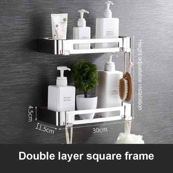 Bathroom Towel Rack Stainless Steel Free Punch Storage Rack Bathroom Hook Tower Hanger Soap Box Toilet Brush Diverse Accessories 18