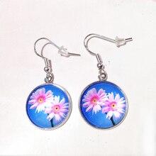 FUYIER Silver Sun Flower Drop Earrings Life Tree Earring Dome Earring Trendy For Party Gift Women Earrings