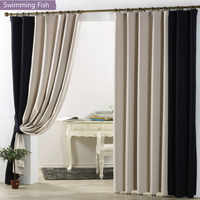 Modern Blackout Window Curtains For Bedroom Curtains Drape For Living Room Fabrics Ready Made Curtain Blinds Treatment