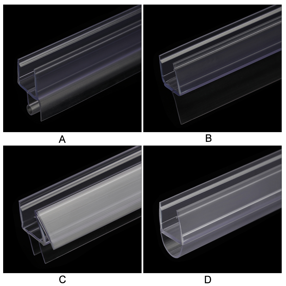 Уплотнительные ленты 4-12 мм, перегородка для зазора на окно, резиновая уплотнительная лента для стеклянных дверей, для экрана ванной комнаты...