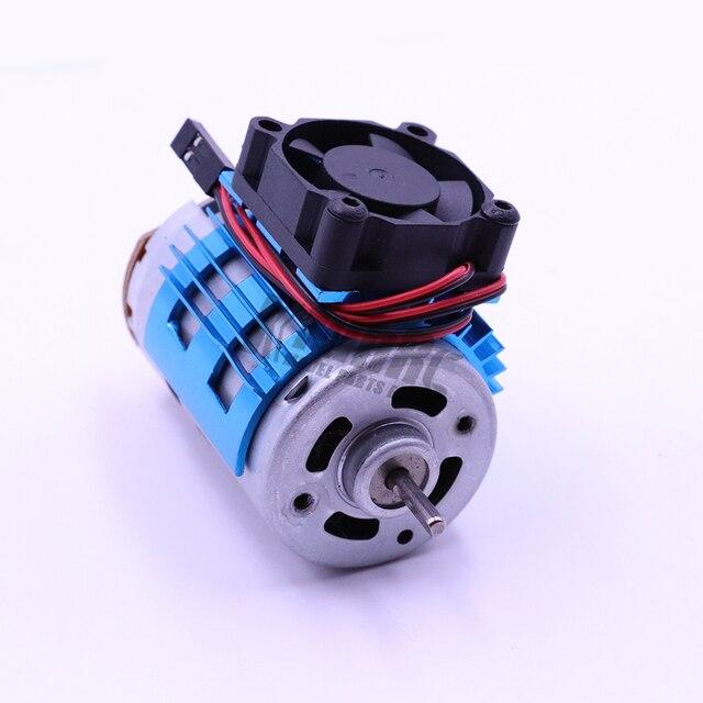 Hot na sprzedaż fioletowy części do zdalnego sterowania silnik elektryczny radiator pokrywa + wentylator dla 1/10 HSP samochodów 540 550 3650 rozmiar rozpraszacz ciepła silnika