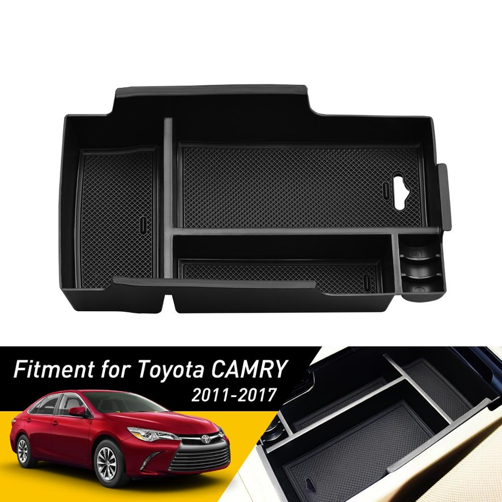 For Toyota Camry 2011- 2015 2016 2017 Accessories Car Styling Central Armrest Storage Box Auto Container Glove Organizer Case
