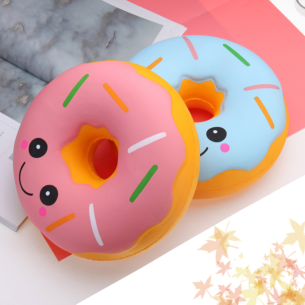 Big Squishy 25cm Jumbo Squishy Cute Kawaii Soft Large Donut Squeeze Squishi Slow Rising Toy For Children Relieves Stress Anxiety