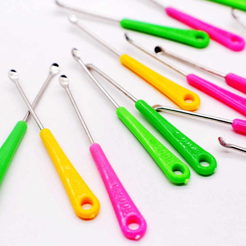20 قطعة ملعقة سماعة الأذن أداة نظيفة الشمع Curette مزيل الرعاية الصحية هدية ملونة لون عشوائي