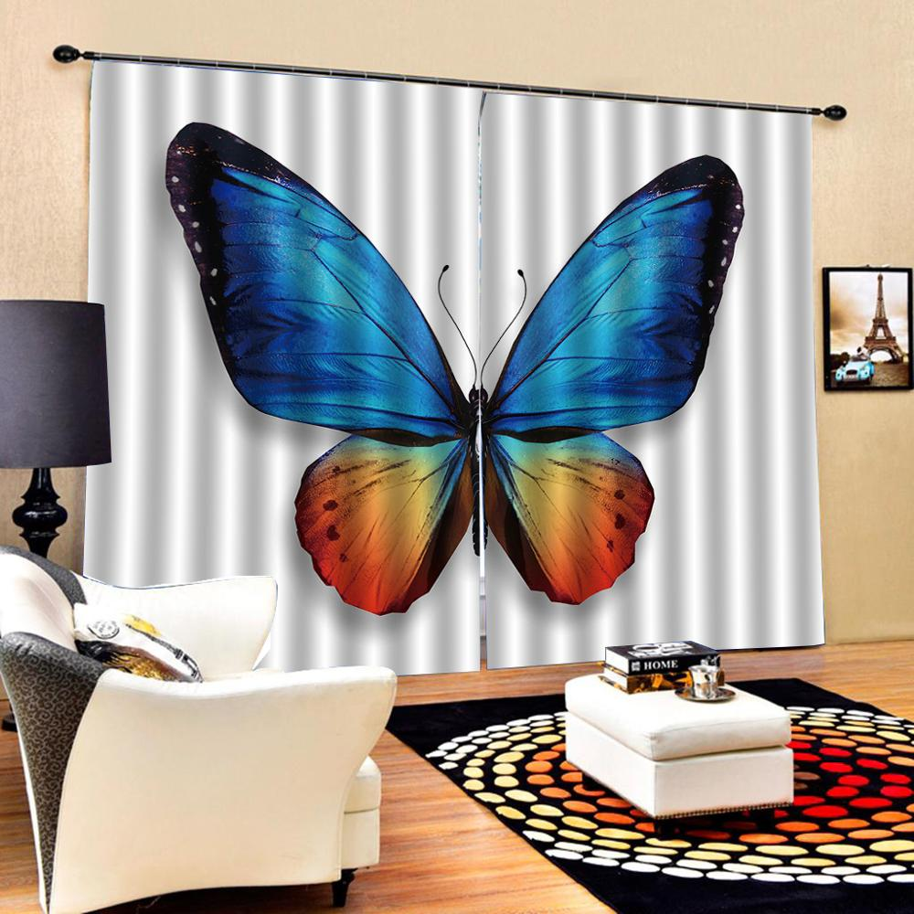butterfly curtains 3D Blackout Curtains For Living room Bedding room Drapes Cotinas para sala  Decoration curtains