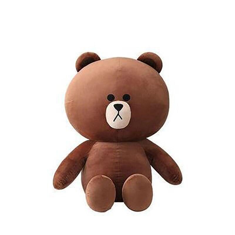 Brown Bear Rabbit Plush Doll Pillow Cute Soft Stuffed Toys Cartoon Dolls Girlfriend Children Birthday Christmas Gifts