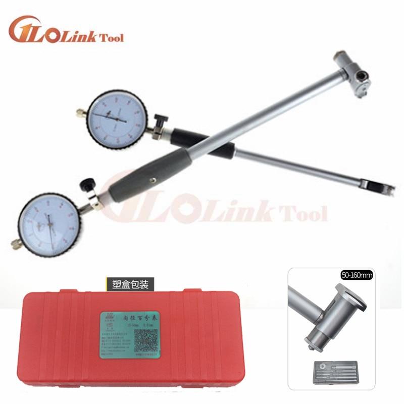 Dial Bore Gauge 50-160MM Diameter Indicator Measuring Engine Cylinder Tool Kit Ruler Measuring Tool Engine Cylinder Dial Bore Gauge