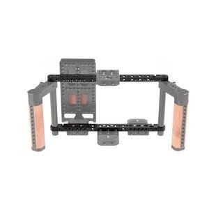 Image 5 - Barra longa do queijo de kayulin 270mm com adaptador da haste de 15mm para o equipamento da gaiola da câmera & do monitor de alumínio