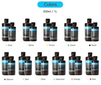 ANYCUBIC 405nm żywica UV do drukarki Photon Photon S 3D materiał do drukowania LCD wrażliwy na promieniowanie UV normalny 500 ml 1L butelka do napojów gadżet tanie i dobre opinie Ciecz 405 nm resin resin monomer photoinit 552 mpa s 7 1 23 4 Mpa 6-10 S 14 2