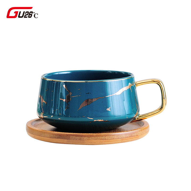 300/400ML Marble Ceramic Coffee Set Milk Mugs Glass Latte Cup Home Drinkware Starry Sky Pattern Tea cup Simple And Creative Mug