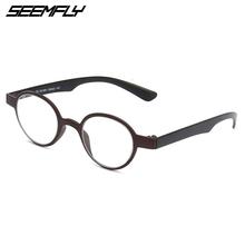 SEEMFLY okulary do czytania okulary kobiety mężczyźni okrągłe małe okulary korekcyjne okulary kobieta mężczyzna nadwzroczność okulary Unisex w stylu Vintage okulary tanie tanio Przezroczysty Lustro Z tworzywa sztucznego YJ0940 3 9cm 3 7cm