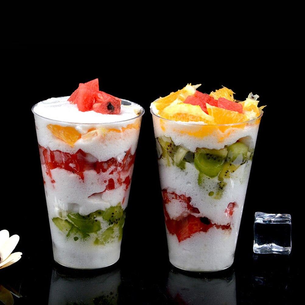 Pour Emporter Jetable Pièces Thé Mousse Glacée Transparent Dur Lait Crème À Emballage En Plastique Glacé Tasse Boire Tasses Café 50 OkXZPTiu