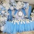 QIFU Blue Macaroon Balloon Garland Arch Kit 1st Birthday party Decor Kids Adult Wedding Birthday Balloons Baby Shower Boy Decor