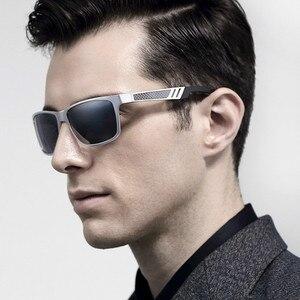Image 3 - Солнцезащитные очки CAPONI Мужские поляризационные, зеркальные солнечные аксессуары квадратной формы, для вождения, с защитой от ультрафиолета, в винтажном стиле, CP6560