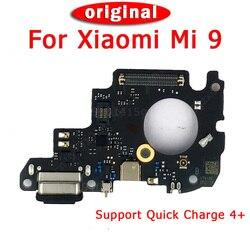 قطع غيار أصلية ل Xiao mi mi 9 شحن ميناء ل mi 9 تهمة مجلس USB التوصيل PCB دورك موصل الكابلات المرنة