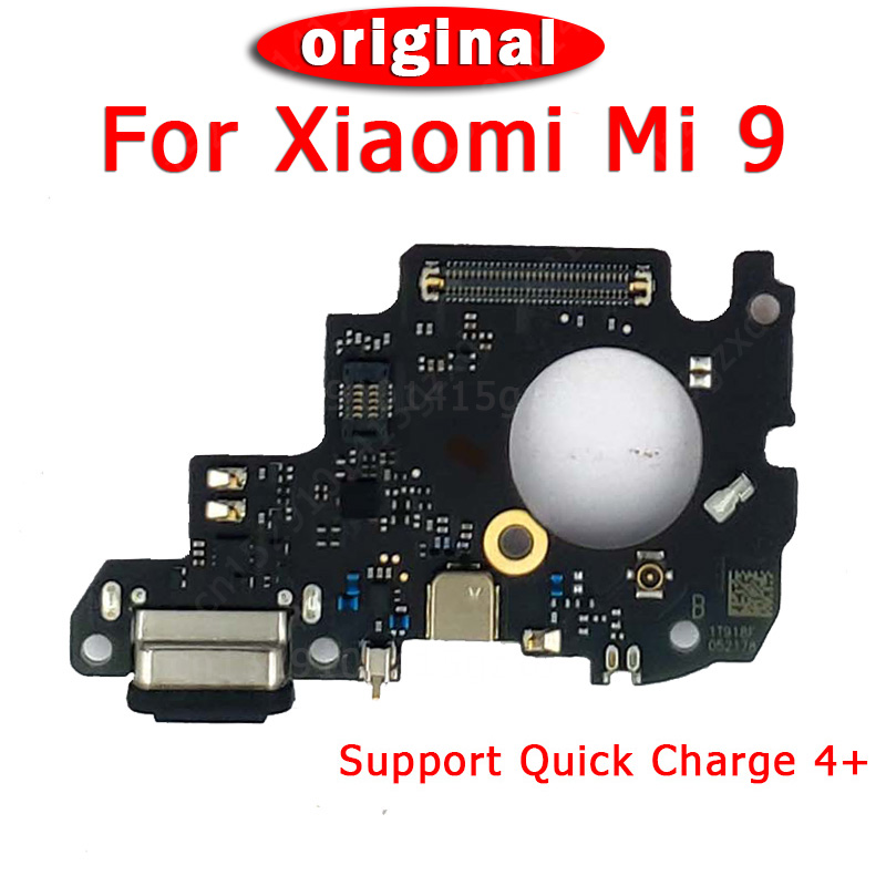 Original Spare Parts For Xiaomi Mi 9 Charging Port For Mi9 Charge Board USB Plug PCB Dork Connector Flex Cable