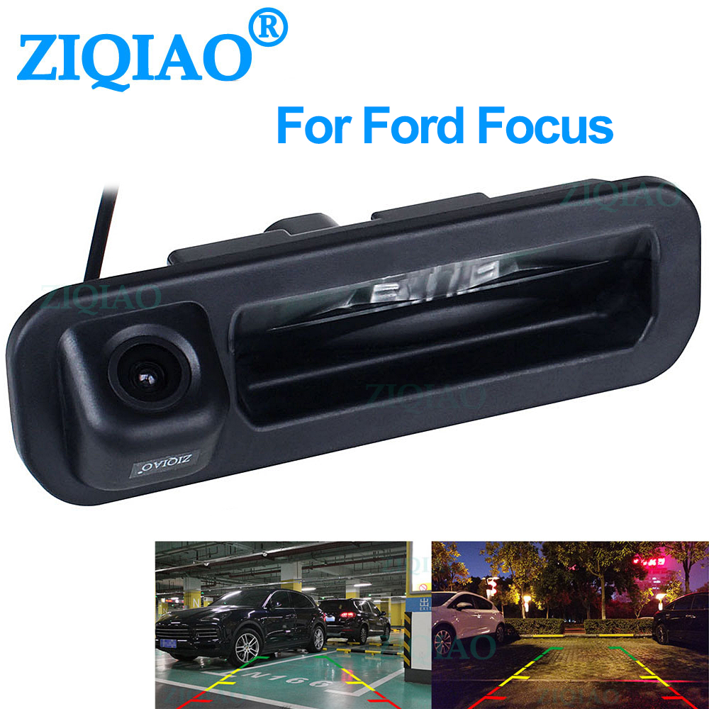 ZIQIAO for Ford Focus Dedicated Trunk Handle Camera Parking Reverse Rearview Camera HS067|Vehicle Camera| |  - title=