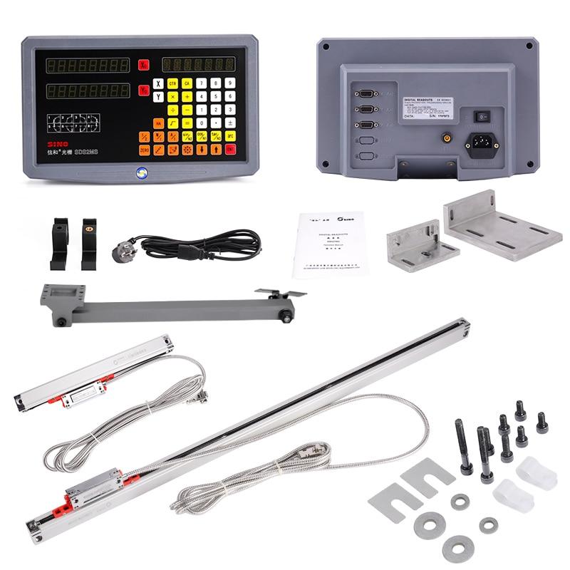 Frete grátis torno/fresagem/broca/edm/cnc máquina de 2 eixos digital readout dro e escalas lineares/sensor linear