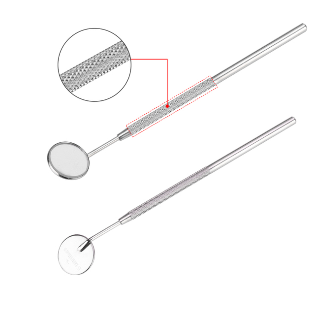 Dental Mirror Inspection Mirror Makeup Mirror Teeth Cleaning Stainless Steel Dentist Professional Tools for Oral Health