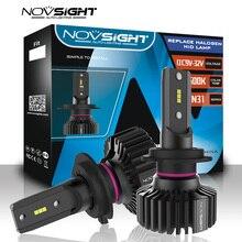 NOVSIGHT סופר מואר h7 led פנס נורות H1 H8 h11 h4 led רכב אור 55w 6500k לבן 9005 HB3 9006 HB4 אוטומטי led מנורות 12v