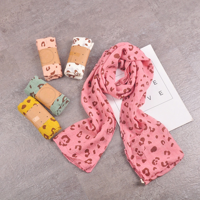 Autumn Winter Casual Fashion Baby Girl Leopard Scarf Children's Warm Neckerchief 1 Pcs