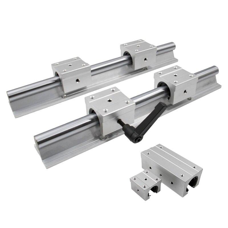 SBR25UU 2Set SBR25-400 Linear Rail Slide Guide Fully Supported Shaft Rod