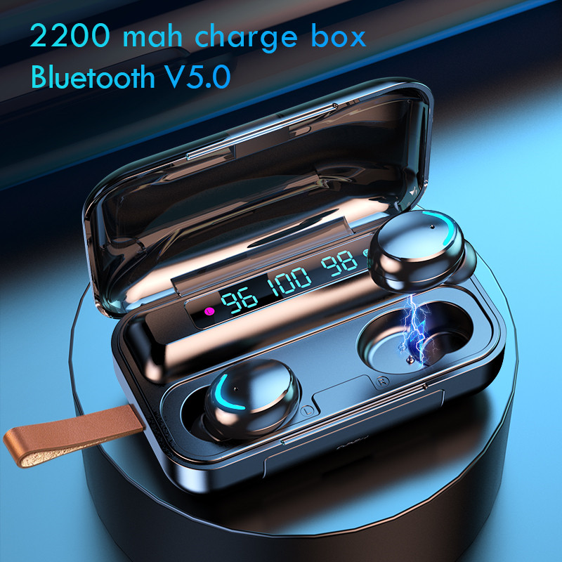 Oringinal TWS Bluetooth 5 0 Wireless Earphones With Mic Wireless 9D HiFi Stereo Earbuds Touch Control Sport Waterproof Headsets