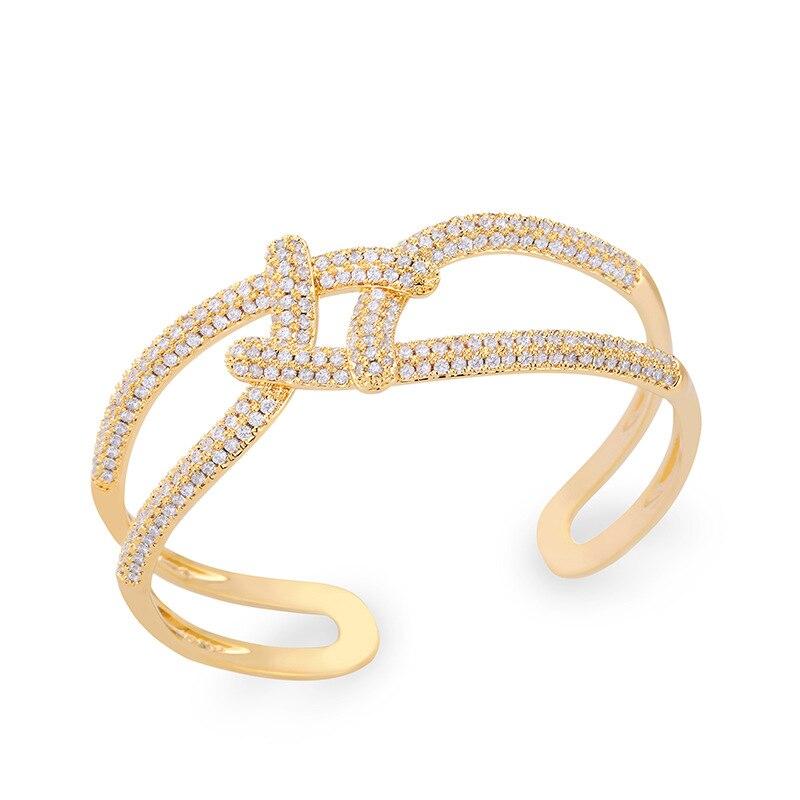NB26 souffle creux croix-forage Bracelet femmes européennes et américaines élégant mode bracelet fabricant vente directe