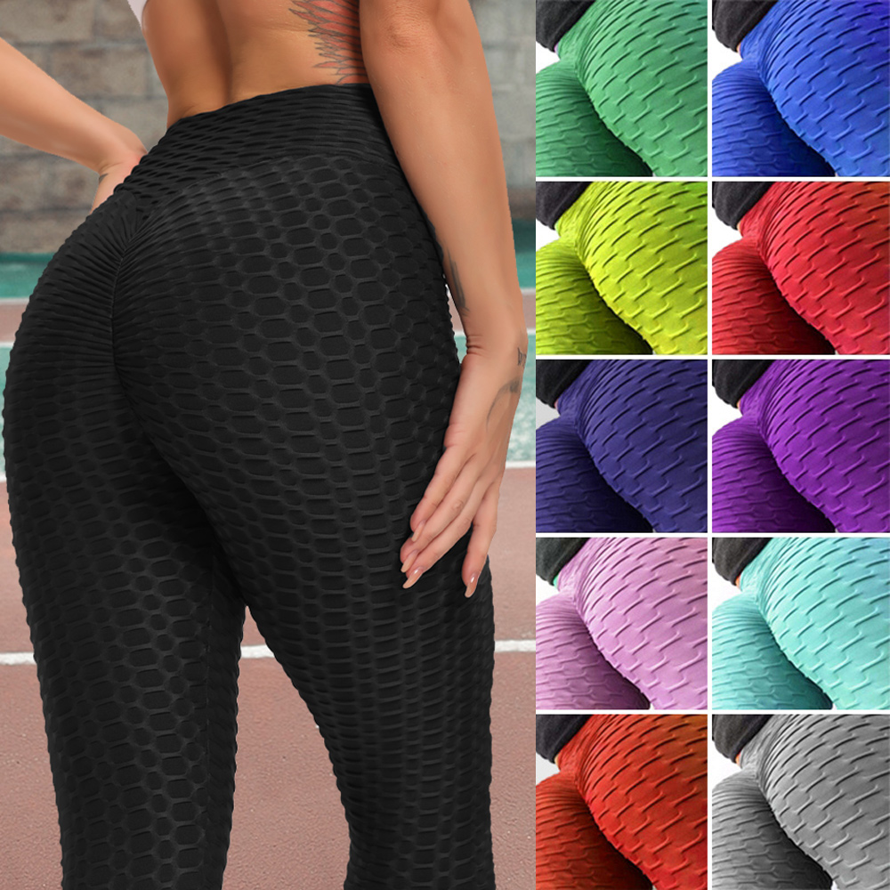 Hot Women High Waist Yoga Pants Sexy Workout Leggings sport fitness leggins anti cellulite gym tights Push up Running Trousers 1