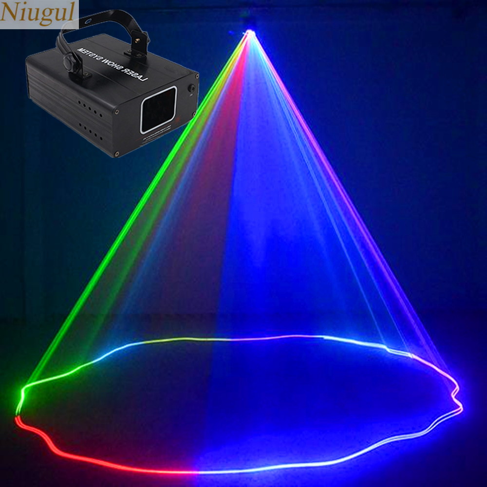 Laser Light RGB Colorful DMX Scanner Projector Party Xmas DJ Disco Show Lights Club Music Equipment Beam Moving Ray Stage Light