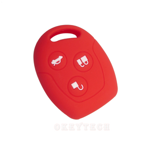 Image 5 - OkeyTech 3 Button Soft Silicone Car Key Case Set Cover For Ford Focus Mondeo 2 3 MK4 Festiva Fusion Suit Fiesta KA Protector Fob