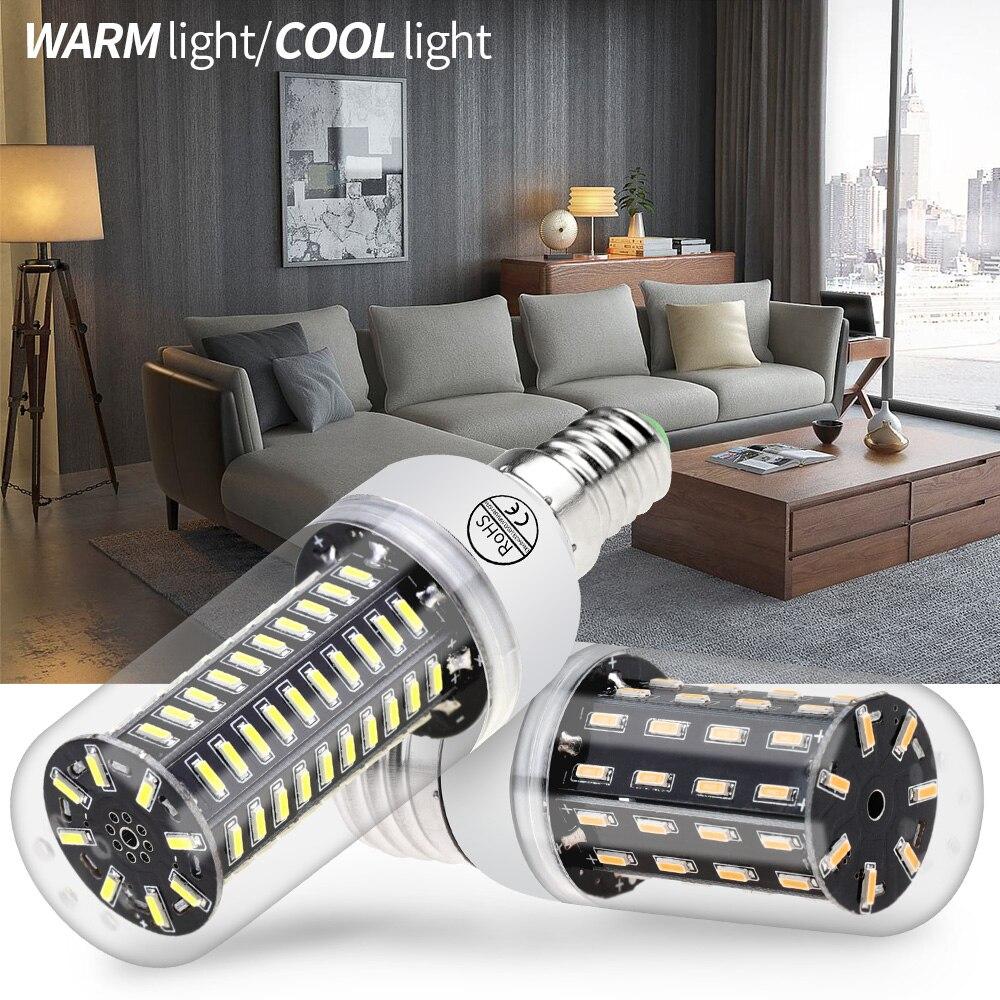 WENNI Corn Light 3W 5W 7W 9W Lampada E14 LED Lamp E27 LED Bulb 220V Bombillas 38 55 78 88LED Candle Light Bulb For Home SMD 4014