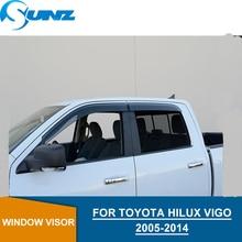 Car door visor For TOYOTA HILUX  VIGO 2005-2014 window rain protector Vigo car accessories SUNZ