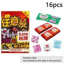 Elasun niespodzianka Box 16 sztuk gładkie cienkie kwas hialuronowy prezerwatywy smarowane prezerwatywy prezerwatywy z naturalnego lateksu prezerwatywy dla mężczyzn Sex prezerwatywy tanie tanio Chin kontynentalnych 16 pcs box Normalne Latex Gumy 52mm ± 2mm