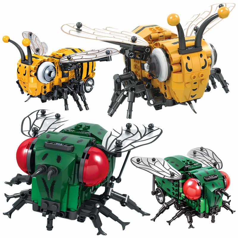Создатель, имитация насекомых, сделай сам, Электрический город, строительные блоки, Legoingly Technic MOC, модель, Строительные кирпичи, игрушки для детей, подарки