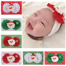 baby hat Christmas Baby Kids Headwrap Bow Knot Elastic Hairband Headband Accessories Шапка детская newborn photography props(China)