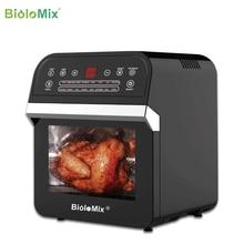 BioloMix 12L 1600W hava fritöz fırın tost makinesi Rotisserie ve kurutucu ile LED dijital dokunmatik ekran, 16 in 1 tezgah üstü fırın
