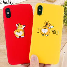 Cute Corgi Phone Case for iPhone 6s 7 8 11 Plus Pro X XS Max XR Fashion Cases Soft Silicone Fitted Clear TPU Covers Accessories