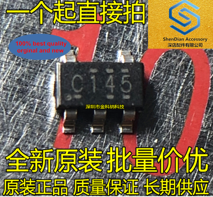30pcs 100% Orignal New SN74LVC1G14DBVR Silkscreen C145 Single Schmitt Trigger Chip SOT23-5 TOS Switching Transistor In Stock