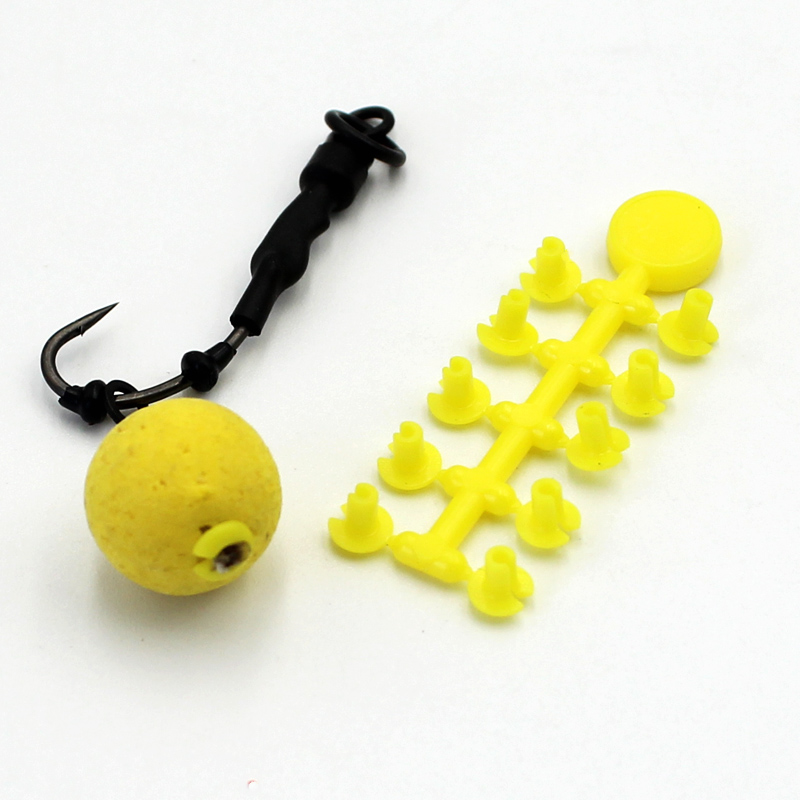 5PCS Carp Fishing Bait Boilies Hair Stops For Boilie Bait Dumbell Shape Small Fishing Bobber Stop Stoppers Tackle Tool