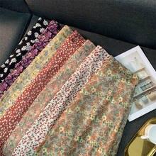 Império saias mulheres retro chique moda chiffon macio verão férias senhoras roupas venda quente popular floral coreano femme saia
