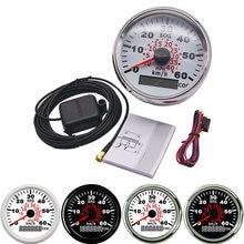 Лодочный GPS-датчик скорости, универсальный измеритель скорости, 85 мм, скорость 60 км/ч, с красной подсветкой, для мотоциклов авто, грузовик, ло...