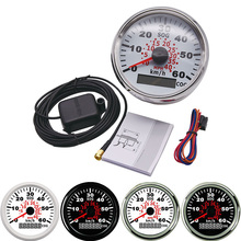 Meter Boat Speed-Gauge Auto-Truck Universal 85mm Motorcycle with Red Backlight for 9--32v