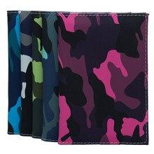 Mode Eenvoudige Minimalistische Camouflage Paspoort Cover Bag Ticket Clip Visitekaartje Houder Pu Lederen Bescherming Card Wallet Case