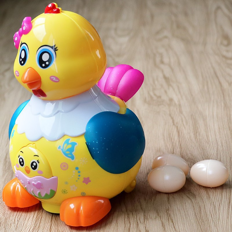 Baby Electric Toys Lay Eggs Little Hen Children Lay Eggs Toy Dinosaur Walk Educational Toy Aged 1-2 Years