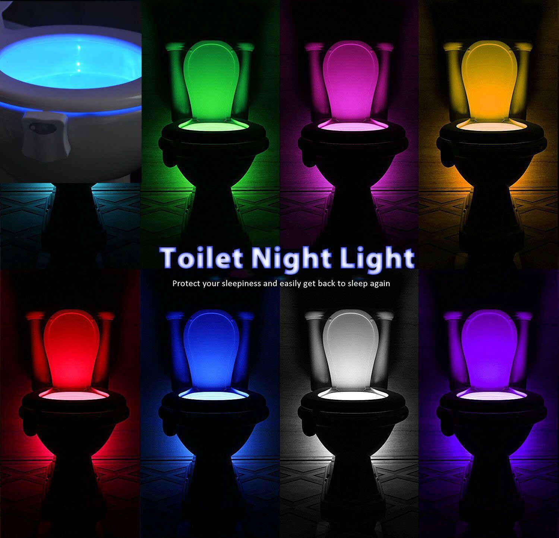 10Pcs 8 Colors PIR Motion Sensor Toilet Seat Night Light Waterproof  Backlight For Toilet Bowl LED Luminaria Lamps Toilet Light| | - AliExpress