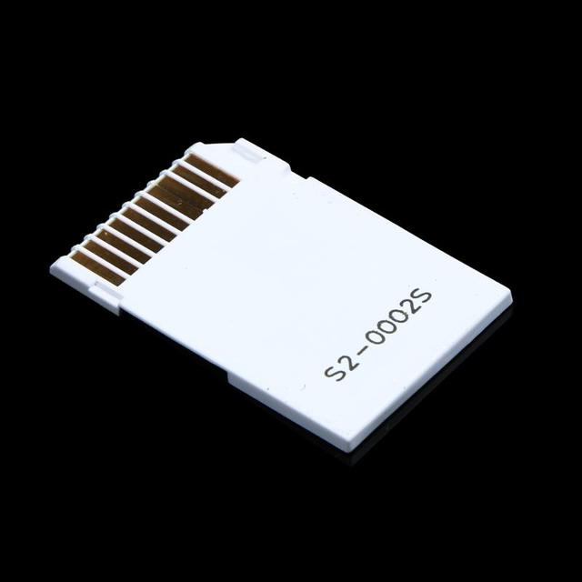 Memory Card Adapter Micro SD TF Flash Card to Memory Stick MS Pro Duo for PSP Card Dual 2 Slot Adapter White 2