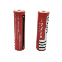 2PCS A LOT  3.7V 18650 Battery Lithium 6800mah Rechargeable For Flashlight batteries