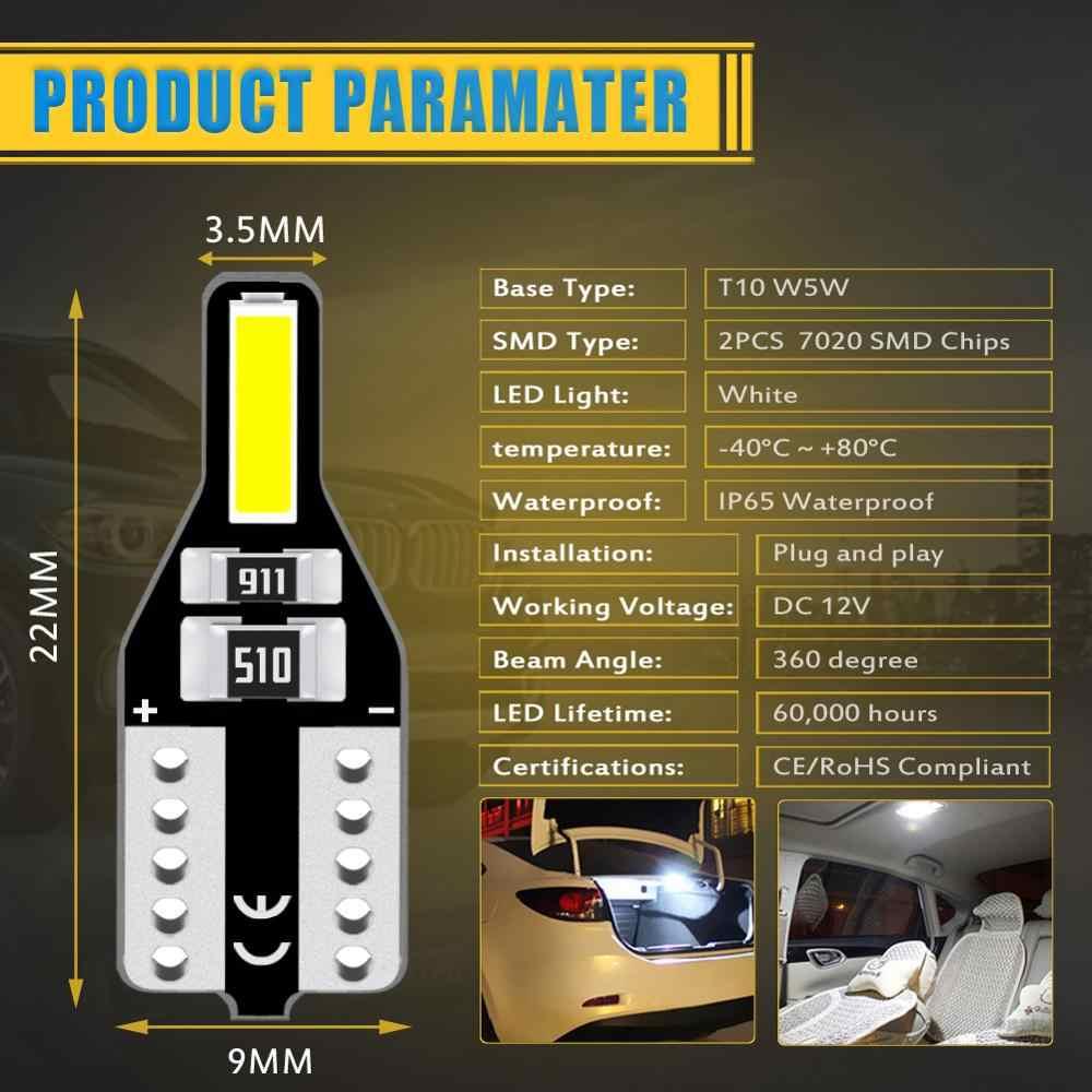 10x T10 W5W oświetlenie wewnętrzne Led Auto światła samochodowe Led 12V dla Alfa Romeo 159 147 156 166 164 Giulietta Mito Brera GT Spider Stelvio