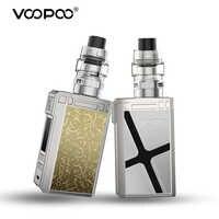 Original 180W VOOPOO Alpha Zip Mod Vaper Kit 4ml Maat réservoir Cigarette électronique ajustement 18650 batterie 510 fil Vape vaporisateur Kit